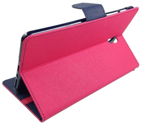 Husa tip carte Mercury Goospery Fancy Diary roz + bleumarin pentru Samsung Galaxy Tab S2 9.7 T810 / T815 (3G/LTE)