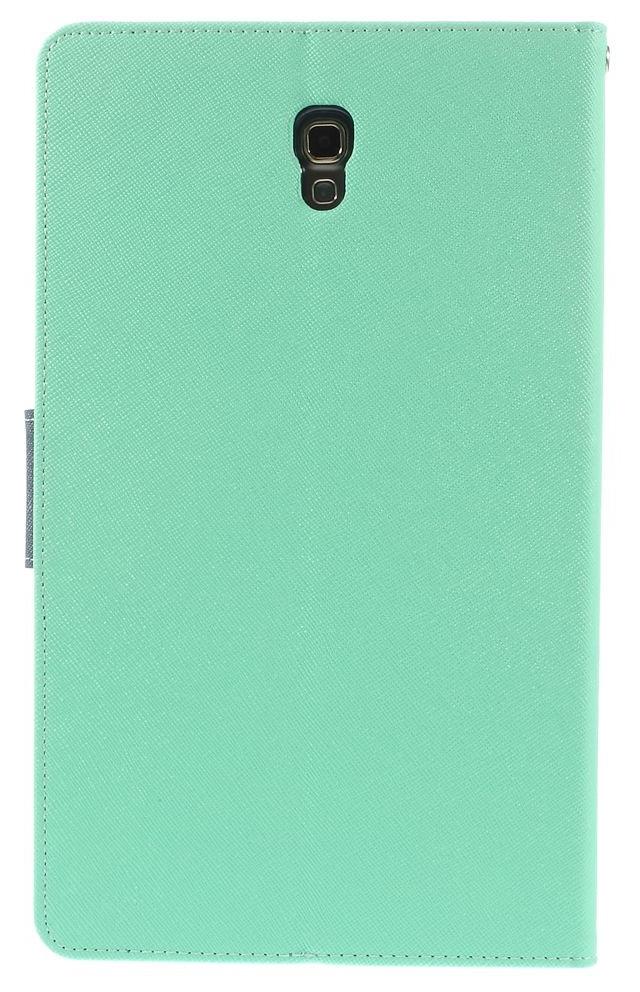 Husa tip carte Mercury Goospery Fancy Diary verde deschis + bleumarin pentru Samsung Galaxy Tab S 8.4 (SM-T700), Tab S 8.4 LTE (SM-T705)