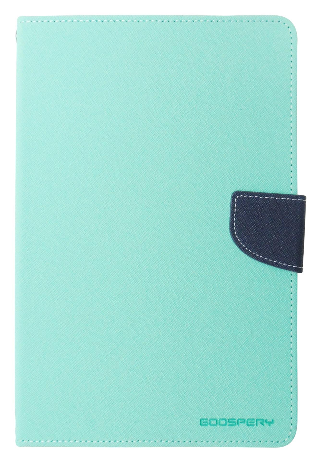 Husa tip carte Mercury Goospery Fancy Diary verde + bleumarin pentru Apple iPad Mini 4