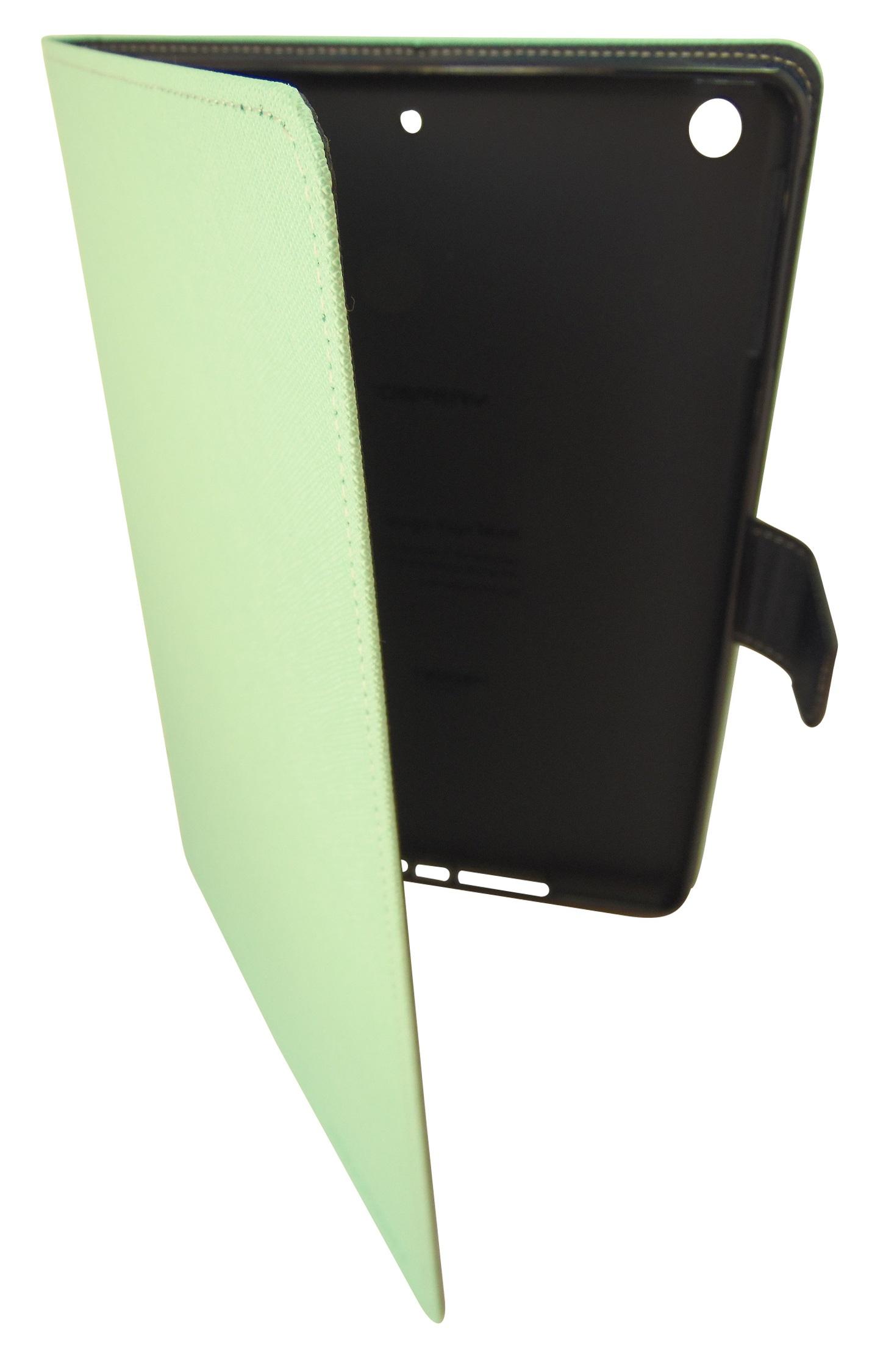 Husa tip carte Mercury Goospery Fancy Diary verde deschis + bleumarin pentru Apple iPad Air 2