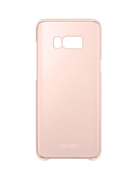 Husa Samsung EF-QG955CPEGWW plastic semitransparent + roz deschis pentru Samsung Galaxy S8 Plus G955