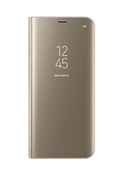 Husa tip carte Clear View Stand Cover Samsung EF-ZG955CFEGWW auriu semitransparent pentru Samsung Galaxy S8 Plus G955