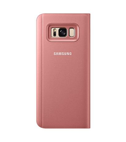 Husa tip carte Clear View Stand Cover Samsung EF-ZG955CPEGWW roz semitransparent pentru Samsung Galaxy S8 Plus G955