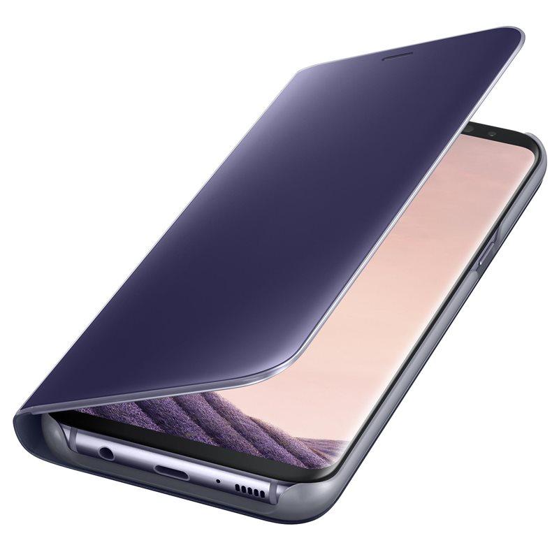 Husa tip carte Clear View Stand Cover Samsung EF-ZG955CVEGWW violet semitransparent pentru Samsung Galaxy S8 Plus G955