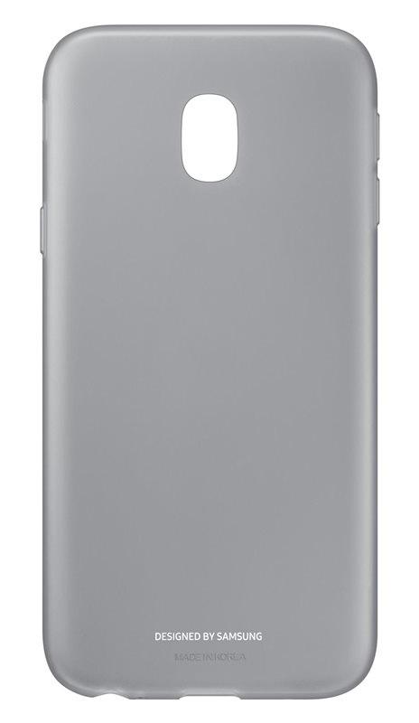 Husa Samsung EF-AJ330TBEGWW silicon negru semitransparent pentru Samsung Galaxy J3 (SM-J330) 2017