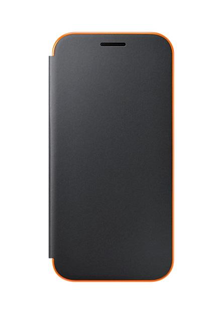 Husa Samsung EF-FA320PBEGWW Neon Flip Cover neagra pentru Samsung Galaxy A3 (SM-A320F) 2017