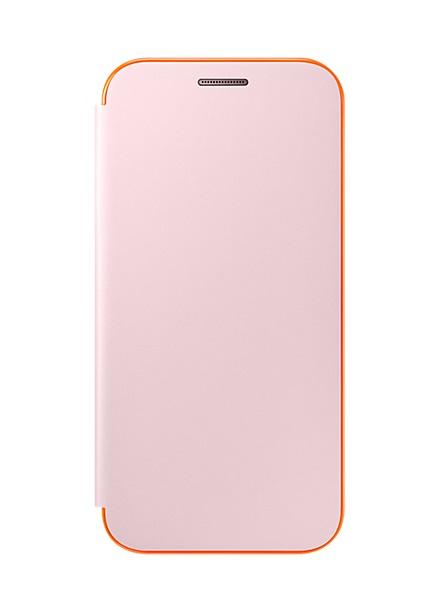 Husa Samsung EF-FA320PPEGWW Neon Flip Cover roz deschis pentru Samsung Galaxy A3 (SM-A320F) 2017