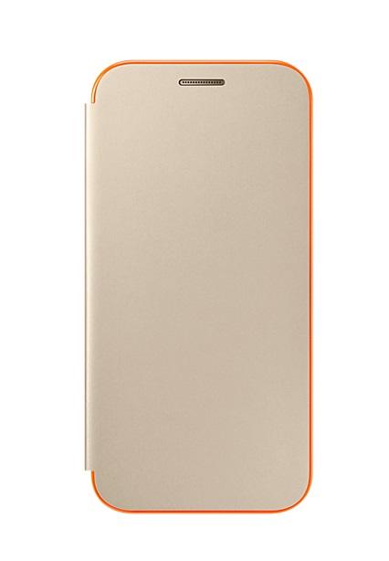 Husa Samsung EF-FA320PFEGWW Neon Flip Cover aurie pentru Samsung Galaxy A3 (SM-A320F) 2017
