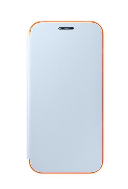 Husa Samsung EF-FA320PLEGWW Neon Flip Cover bleu pentru Samsung Galaxy A3 (SM-A320F) 2017