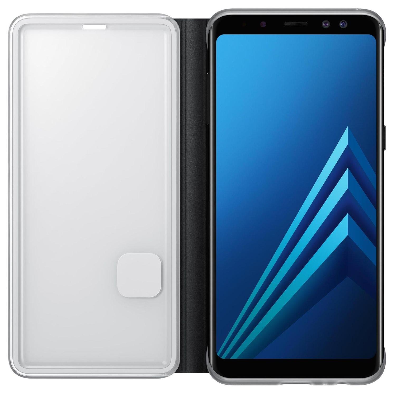 Husa Samsung EF-FA530PBEGWW Neon Flip Cover neagra pentru Samsung Galaxy A8 2018 (SM-A530) (A5 2018)
