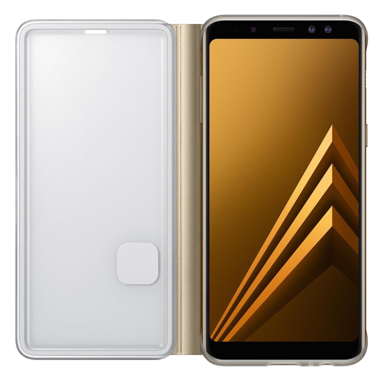 Husa Samsung EF-FA530PFEGWW Neon Flip Cover aurie pentru Samsung Galaxy A8 2018 (SM-A530) (A5 2018)