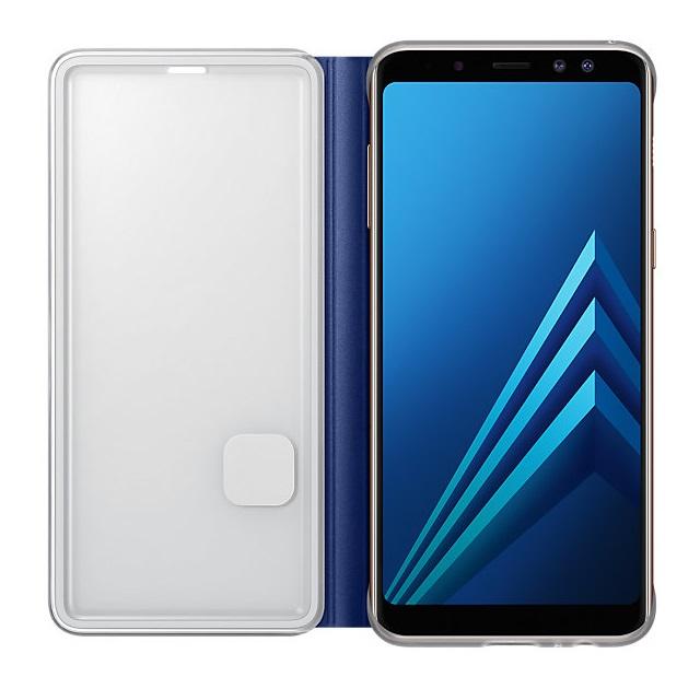 Husa Samsung EF-FA530PLEGWW Neon Flip Cover albastra pentru Samsung Galaxy A8 2018 (SM-A530) (A5 2018)