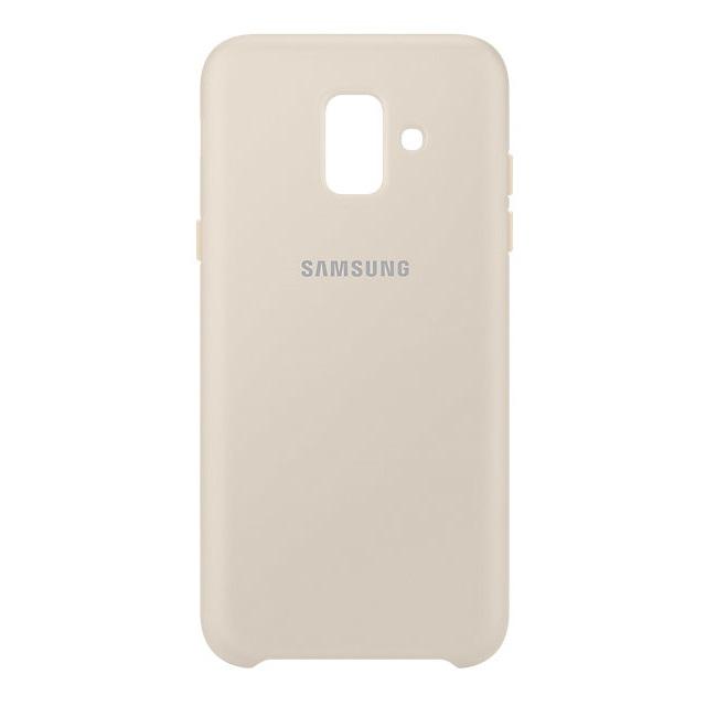 Husa Samsung EF-PA600CFEGWW Dual Layer (plastic + silicon) aurie pentru Samsung Galaxy A6 2018
