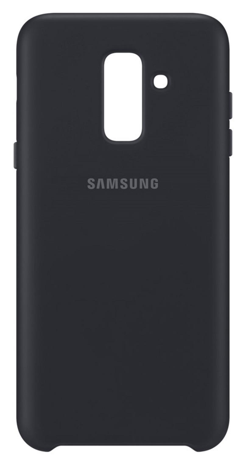 Husa Samsung EF-PA605CBEGWW Dual Layer (plastic + silicon) neagra pentru Samsung Galaxy A6 Plus 2018