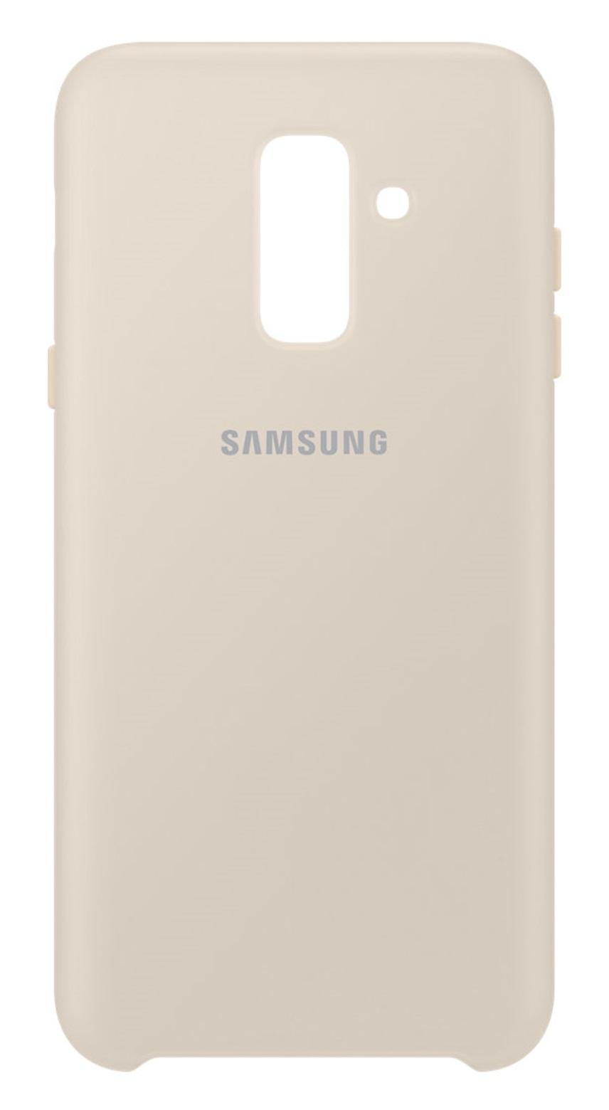 Husa Samsung EF-PA605CFEGWW Dual Layer (plastic + silicon) aurie pentru Samsung Galaxy A6 Plus 2018