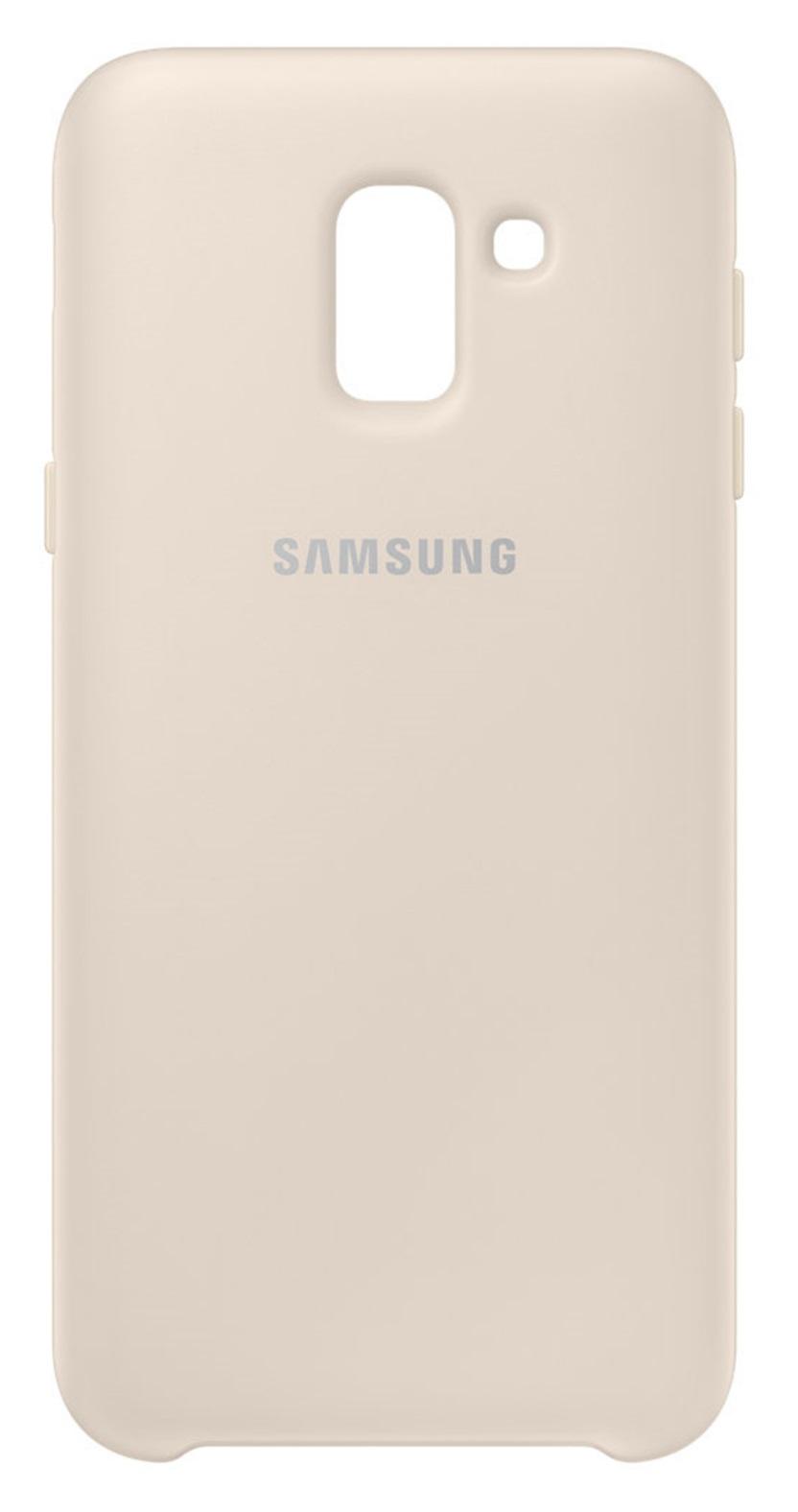 Husa Samsung EF-PJ600CFEGWW Dual Layer (plastic + silicon) aurie pentru Samsung Galaxy J6 2018
