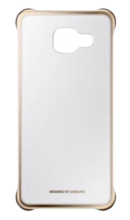 Husa Samsung EF-QA310CFEGWW transparent + auriu pentru Samsung Galaxy A3 (SM-A310FU) 2016