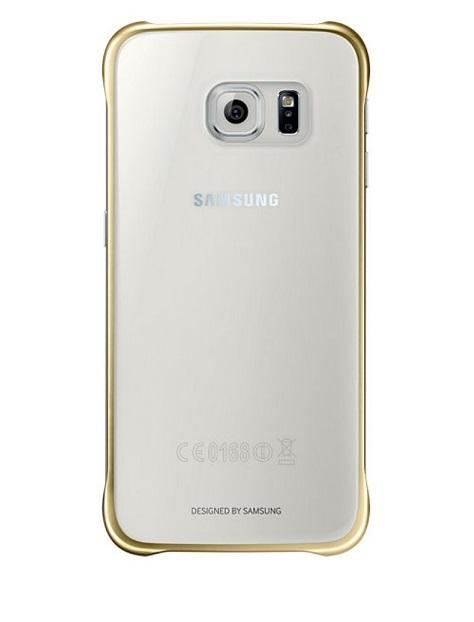 Husa Samsung EF-QG920BFEGWW transparent + auriu pentru Samsung Galaxy S6 (SM-G920)