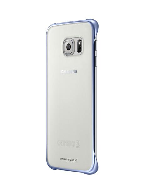 Husa Samsung EF-QG925BBEGWW transparent + negru pentru Samsung Galaxy S6 Edge (SM-G925)