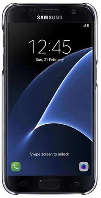 Husa Samsung Ef-qg930cbegww Transparent + Negru Pe
