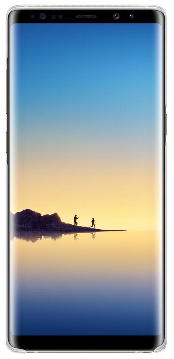 Husa Samsung EF-QN950CTEGWW transparent + alb pentru Samsung Galaxy Note 8 (SM-N950)