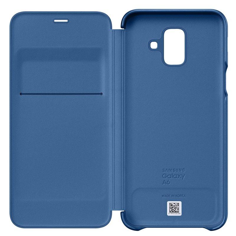 Husa Samsung EF-WA600CLEGWW tip carte albastra pentru Samsung Galaxy A6 2018