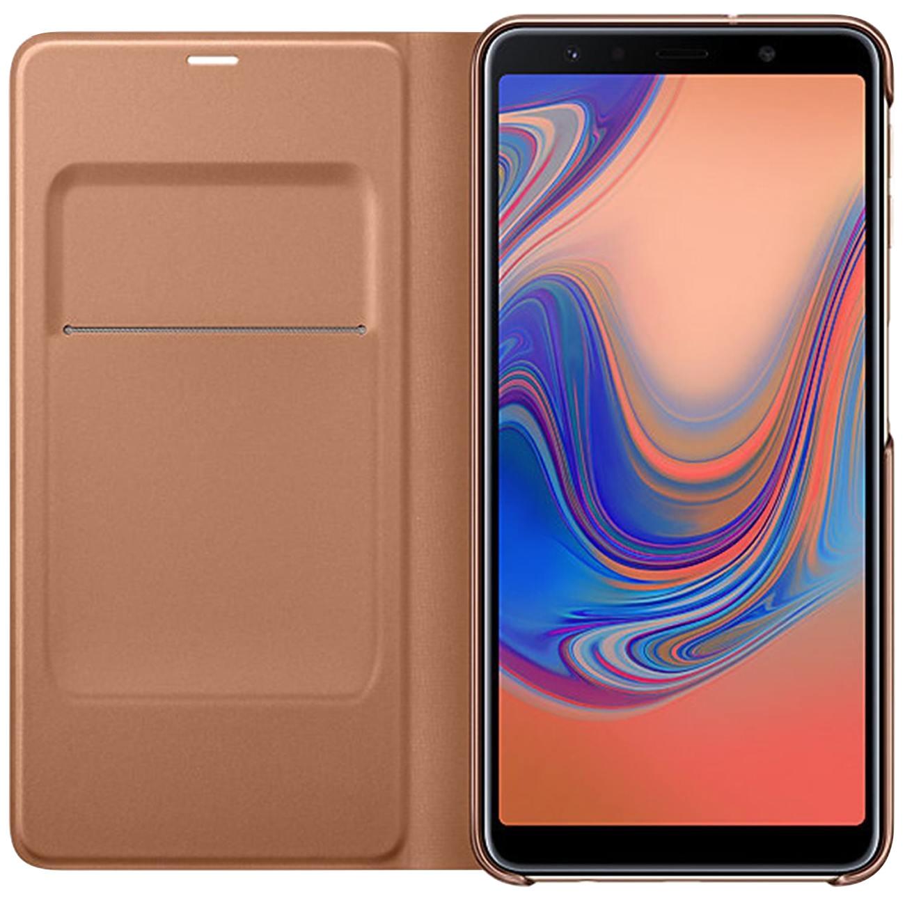 Husa tip carte Samsung EF-WA750PFEGWW aurie pentru Samsung Galaxy A7 2018 (A750)