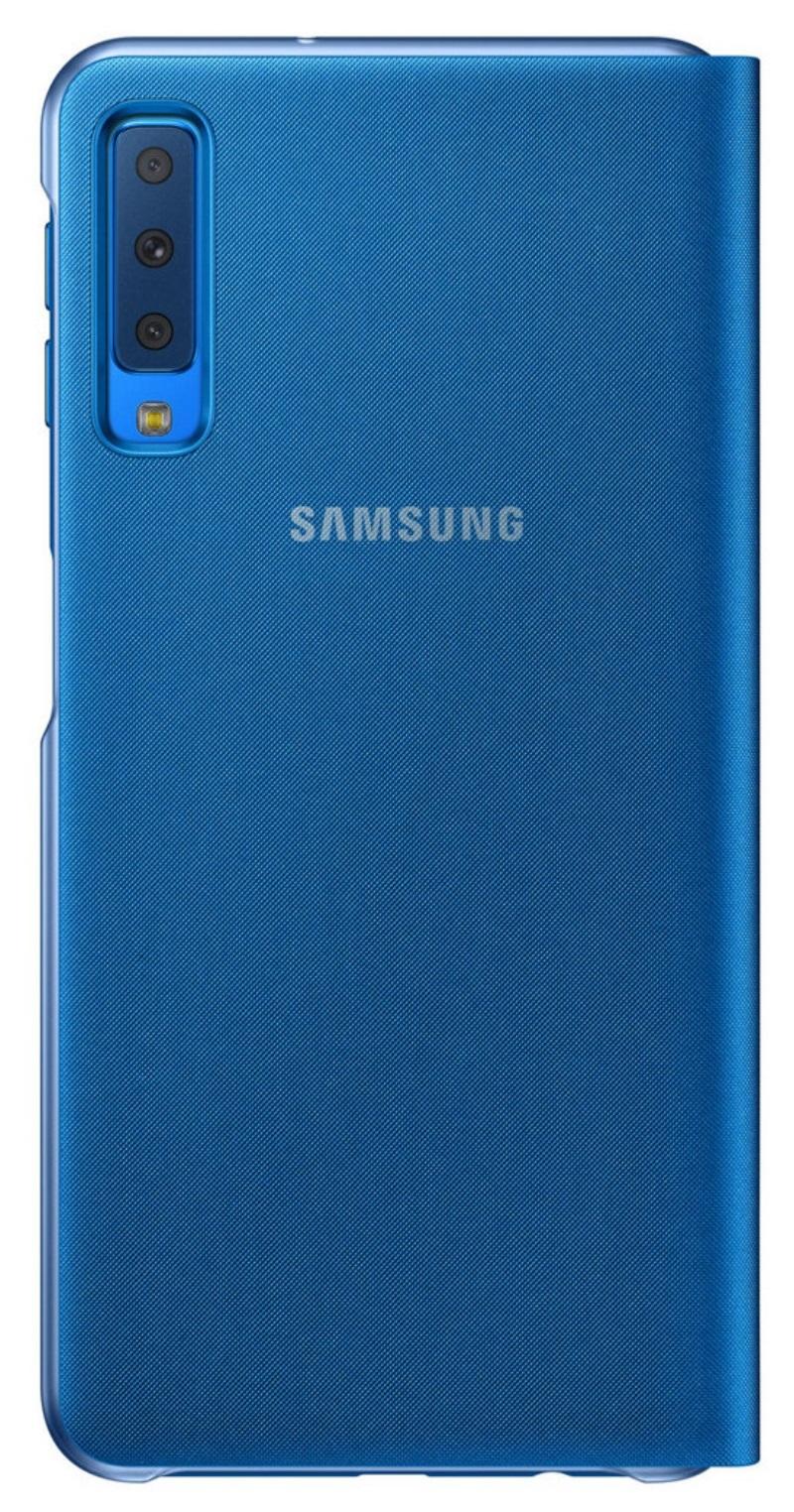 Husa tip carte Samsung EF-WA750PLEGWW albastra pentru Samsung Galaxy A7 2018 (A750)