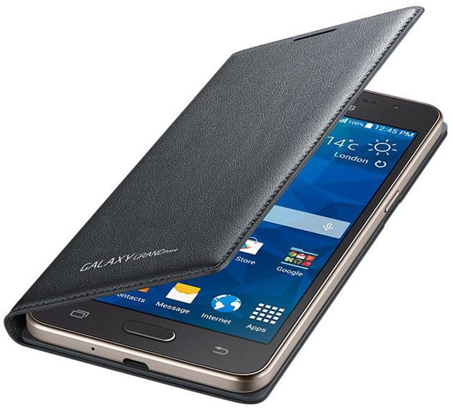 Husa Tip Carte Samsung Ef-wg530bsegww Gri Inchis Pentru Telefonul Samsung Galaxy Grand Prime (sm-g530f)  Grand Prime Dual Sim (sm-g530h)  Grand Prime Ve (sm-g531f)