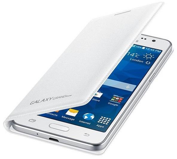 Husa Tip Carte Samsung Ef-wg530bwegww Alba Pentru Telefonul Samsung Galaxy Grand Prime (sm-g530f)  Grand Prime Dual Sim (sm-g530h)  Grand Prime Ve (sm-g531f)