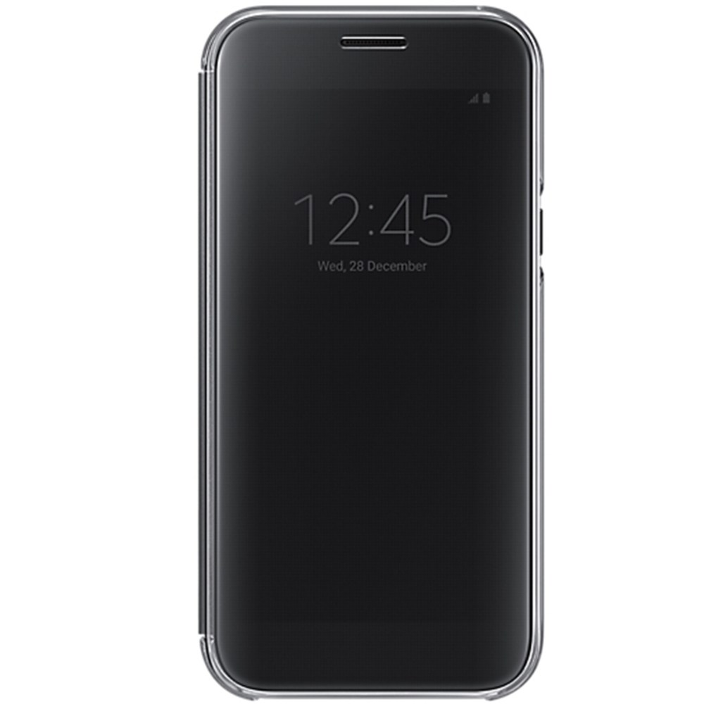 Husa Samsung EF-ZA520CBEGWW Clear View neagra pentru Samsung Galaxy A5 (SM-A520) 2017