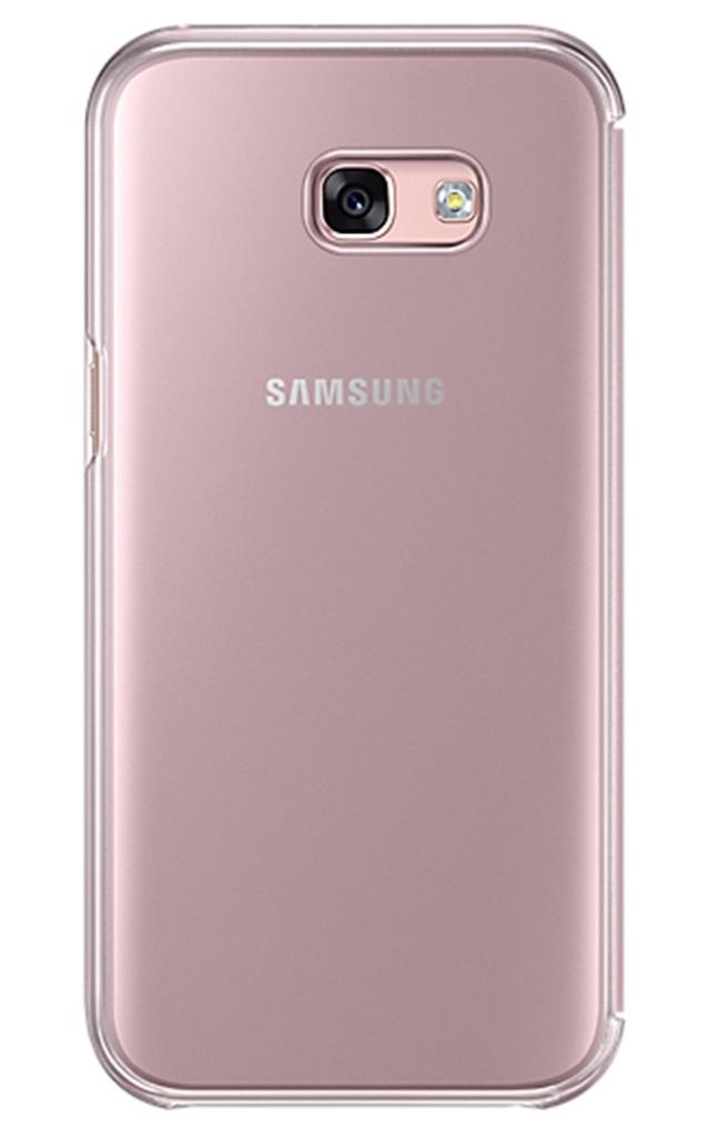 Husa Samsung EF-ZA520CPEGWW Clear View roz pentru Samsung Galaxy A5 (SM-A520) 2017