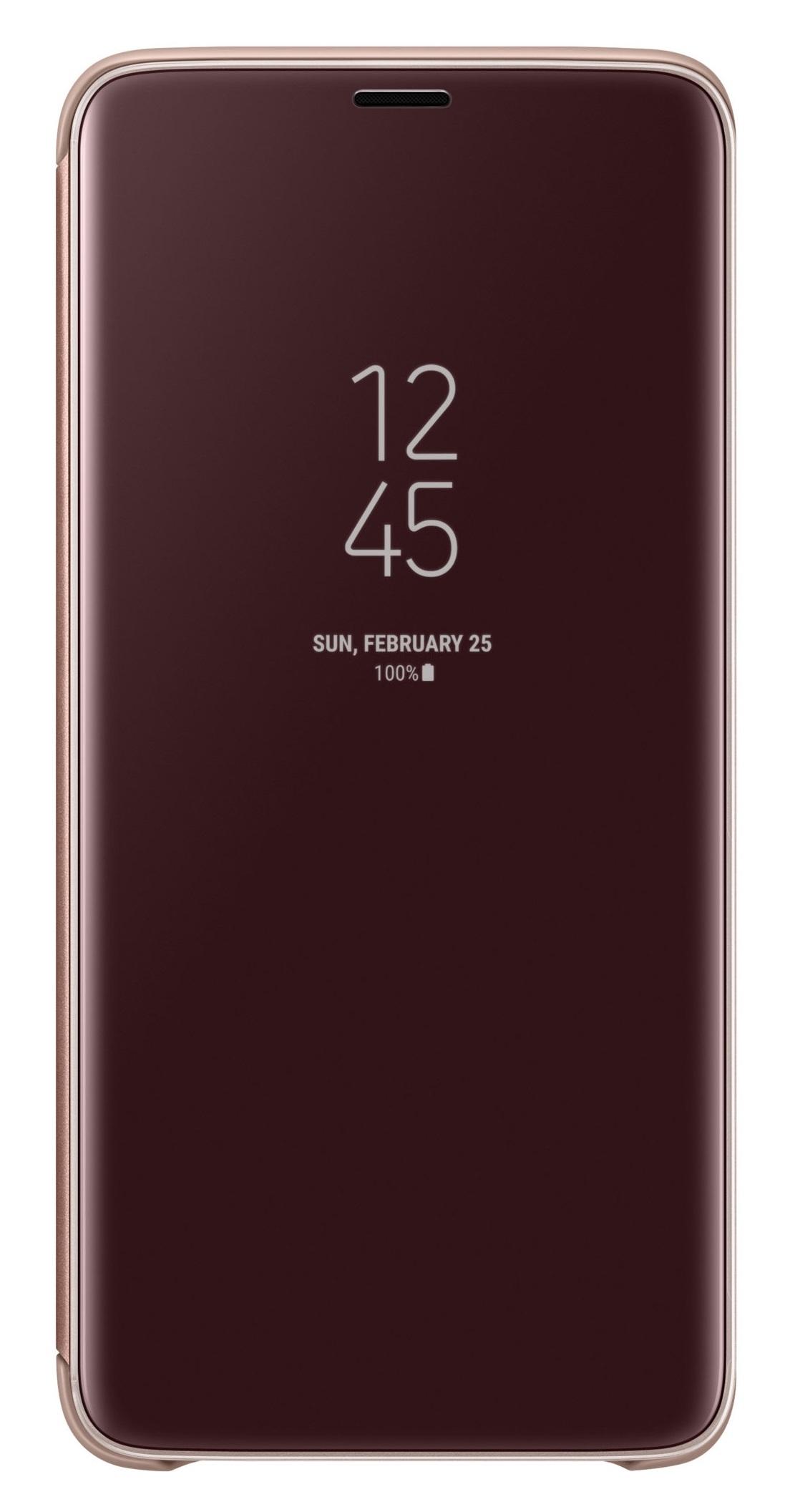 Husa tip carte Clear View Standing Cover Samsung EF-ZG965CFEGWW auriu semitransparent pentru Samsung Galaxy S9 Plus (G965)