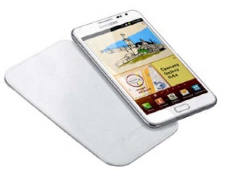 Husa Samsung EFC-1E1LW alba pentru Samsung Galaxy Note N7000 (i9220)