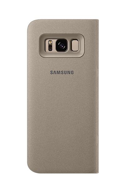 Husa tip carte Led View Cover Samsung EF-NG950PFEGWW aurie pentru Samsung Galaxy S8 (G950)