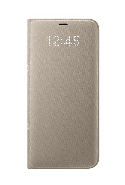 Husa tip carte Led View Cover Samsung EF-NG955PFEGWW aurie pentru Samsung Galaxy S8 Plus (G955)