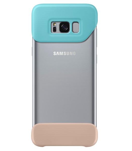 Husa Samsung EF-MG955CMEGWW Two Piece Cover plastic verde + bej pentru Samsung Galaxy S8 Plus (G955)