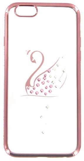 Husa Silicon Bling Roz Auriu (model Lebada) Spate