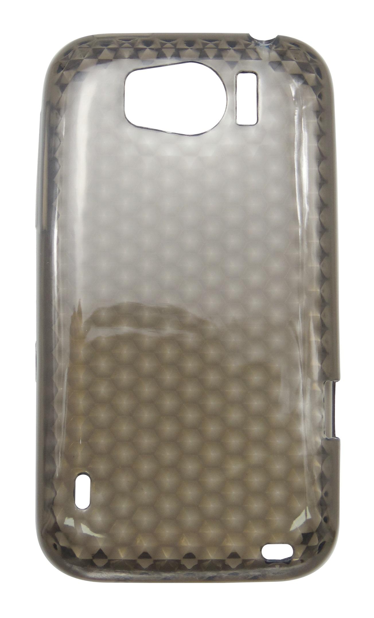 Husa silicon Lux (fagure) fumurie pentru HTC Sensation XL