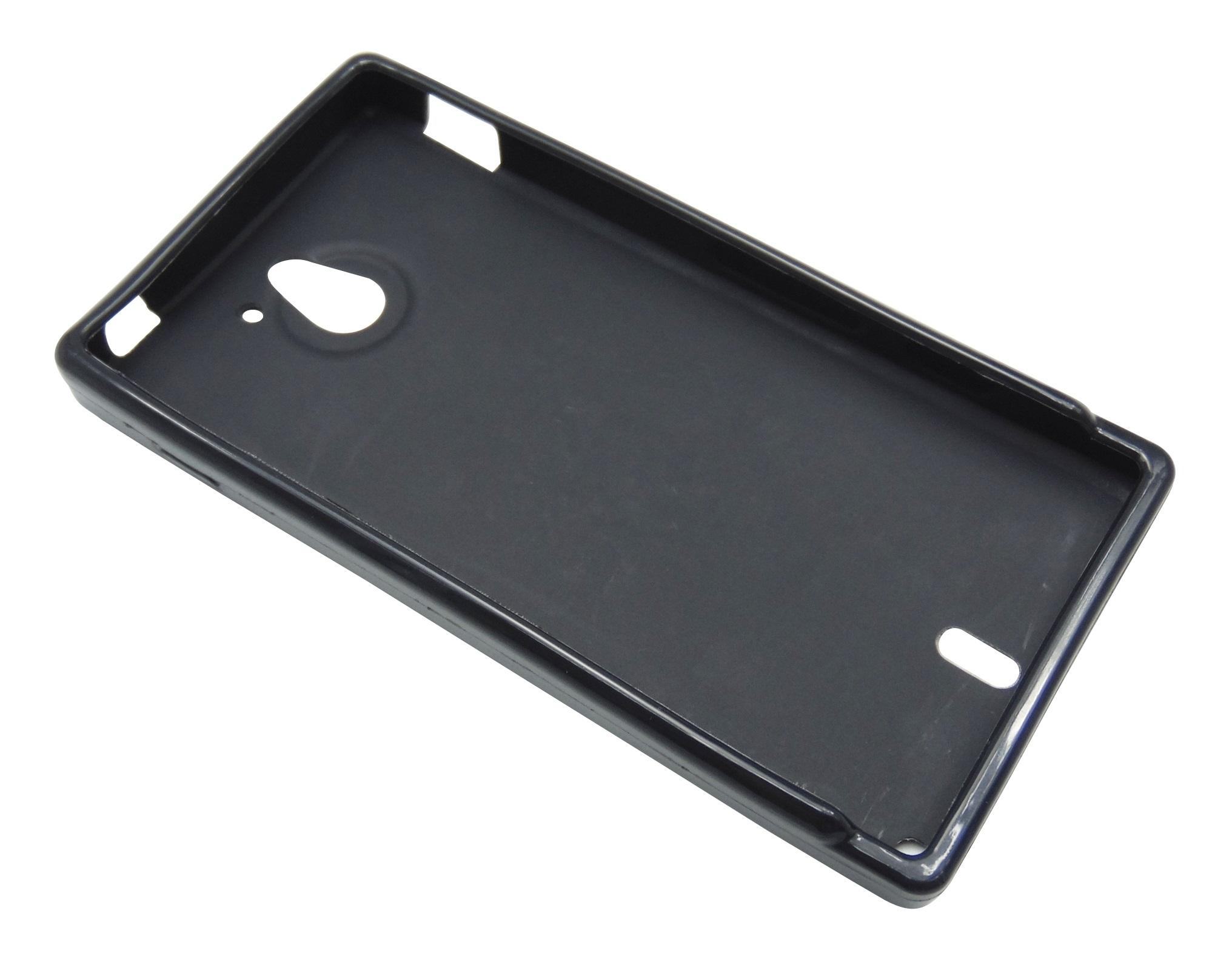 Husa silicon neagra pentru Sony Xperia Sola (MT27i)