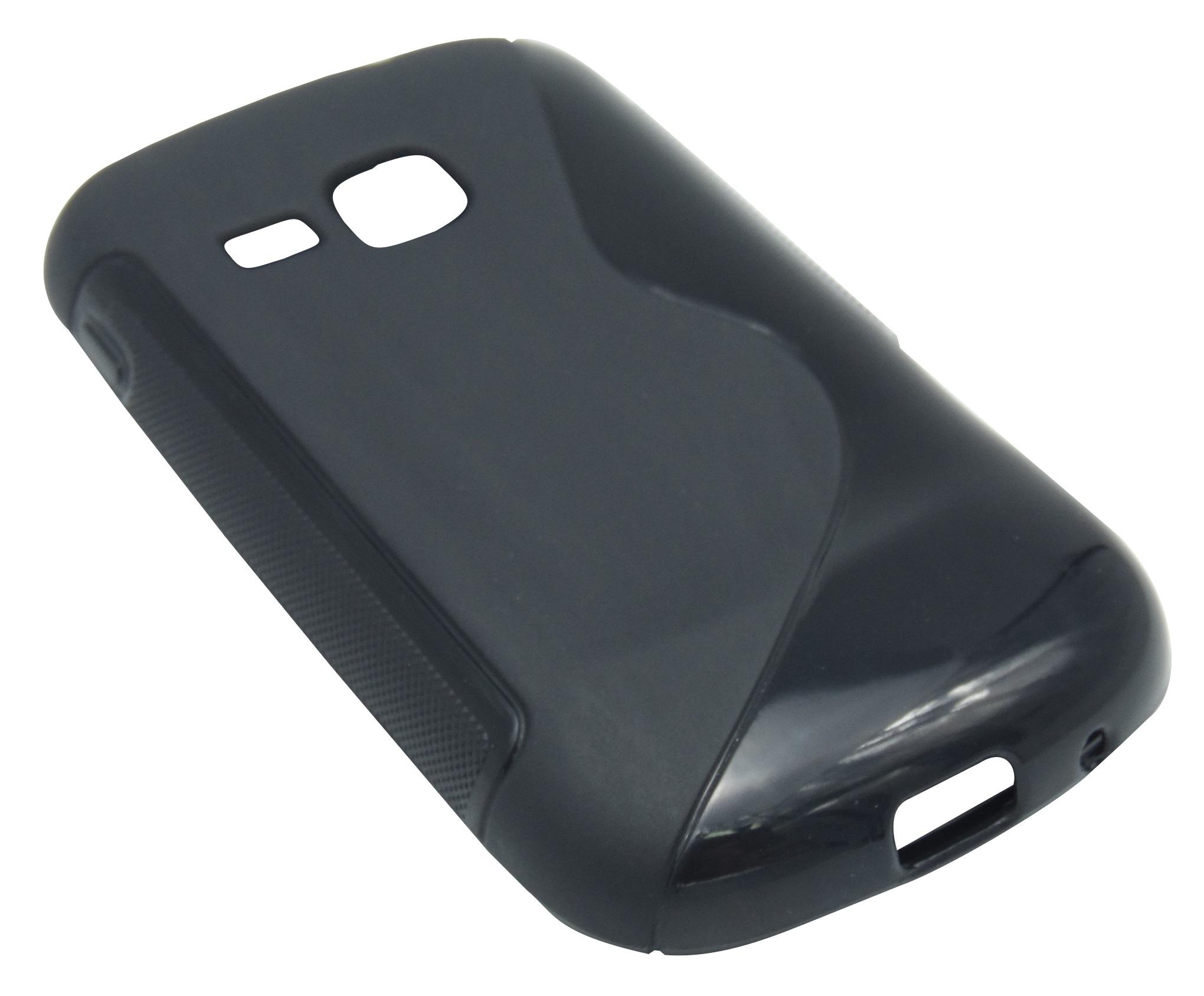 Husa silicon S-case neagra pentru Samsung Galaxy Mini 2 S6500
