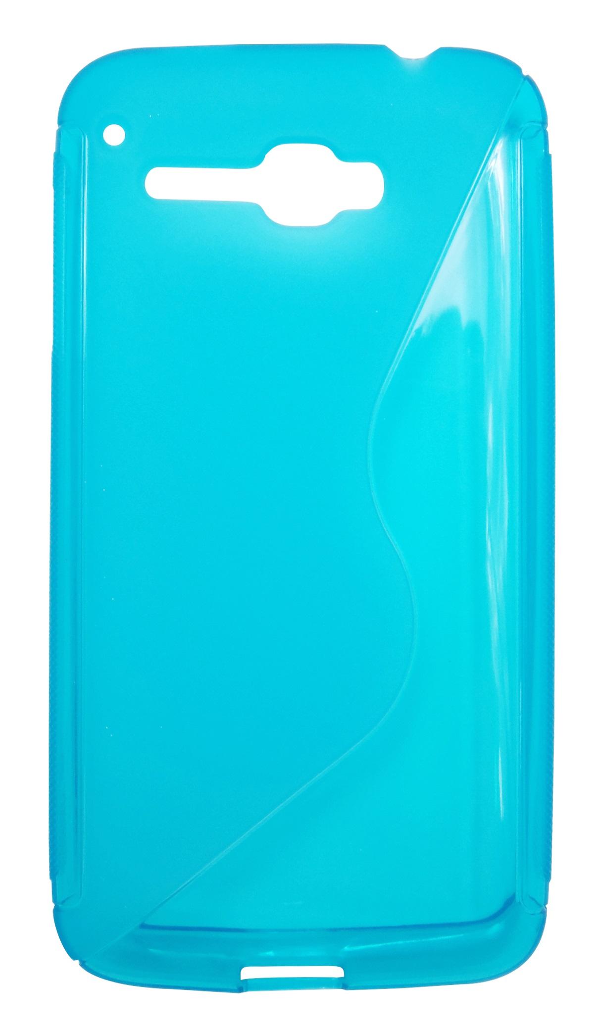 Husa silicon S-line albastra pentru Alcatel One Touch X'Pop (OT-5030, OT-5035D, OT-5035E, OT-5035Y)