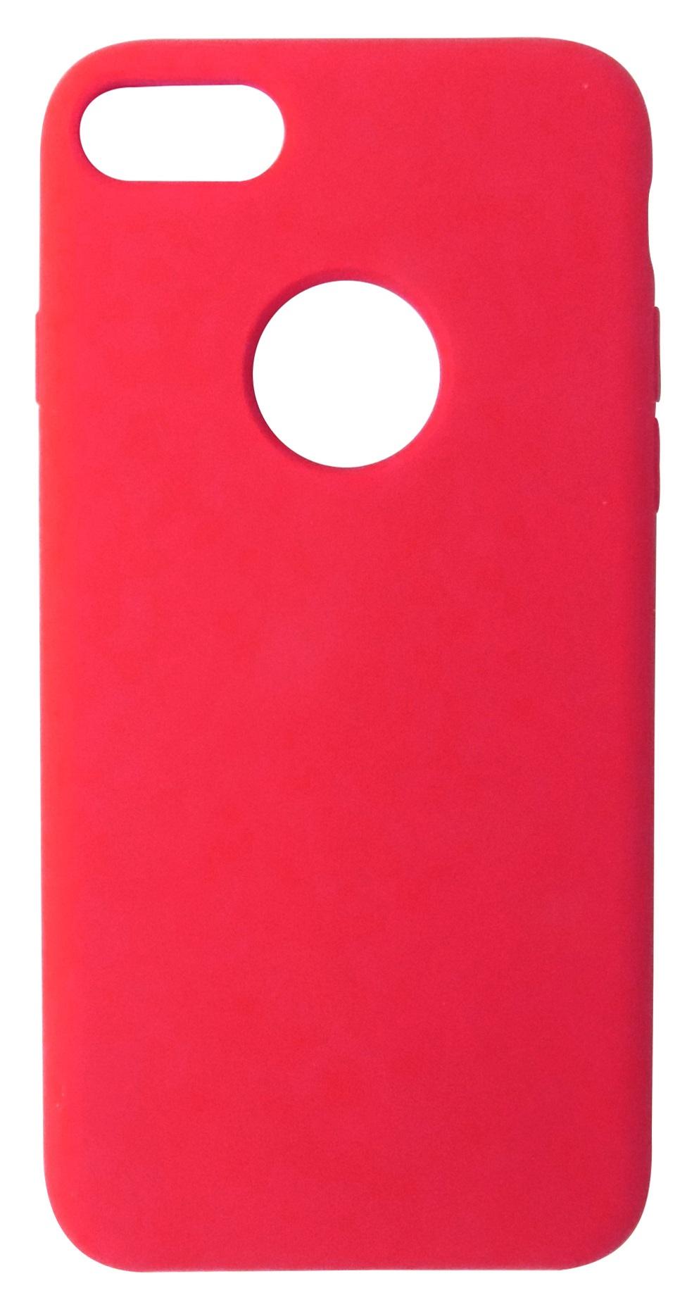 Husa silicon TPU Matte (anti-amprenta, anti-alunecare) rosie pentru Apple iPhone 7/8