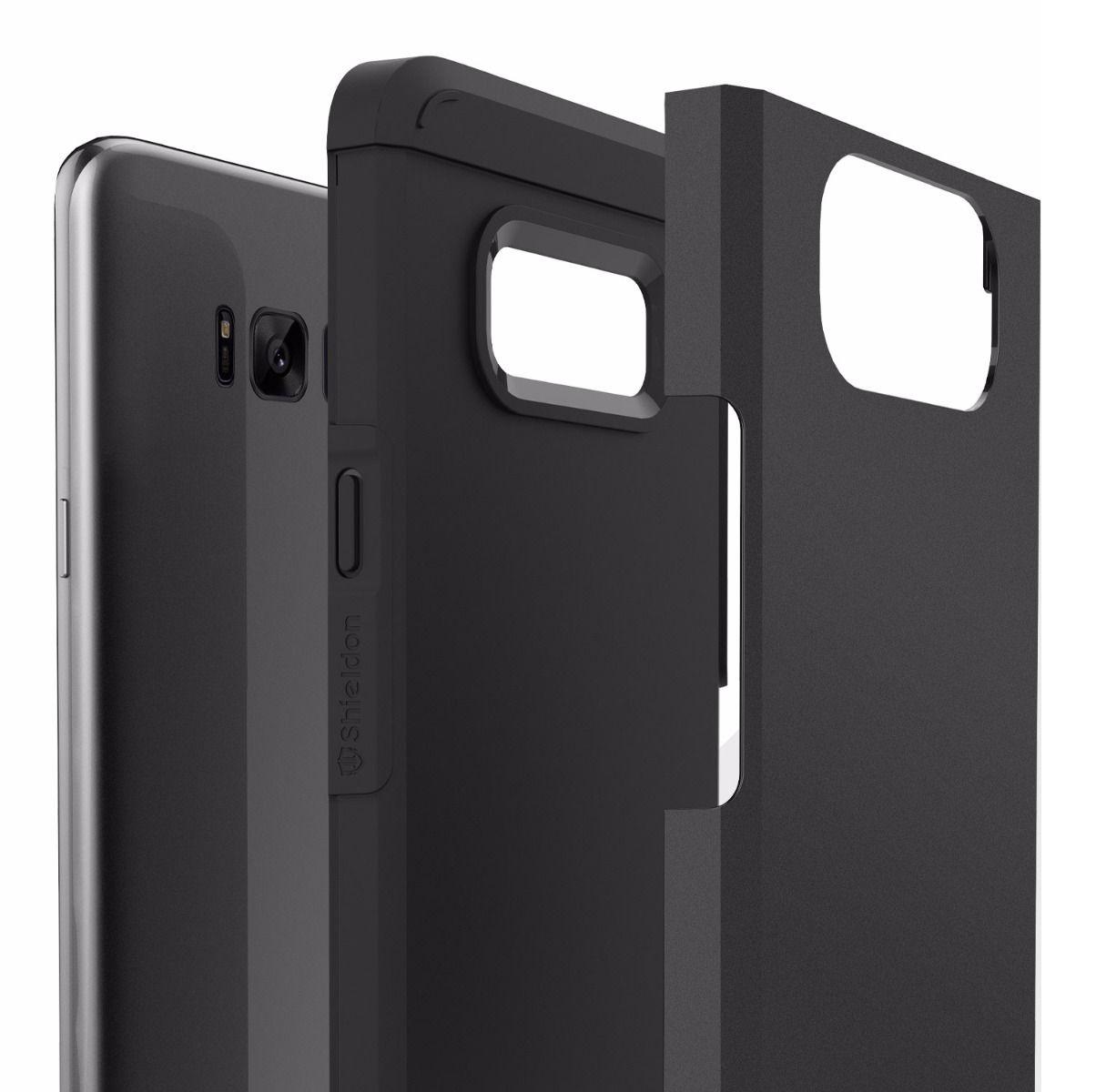 Husa tip capac spate Shieldon Mountain Series neagra pentru Samsung Galaxy S8 Plus G955