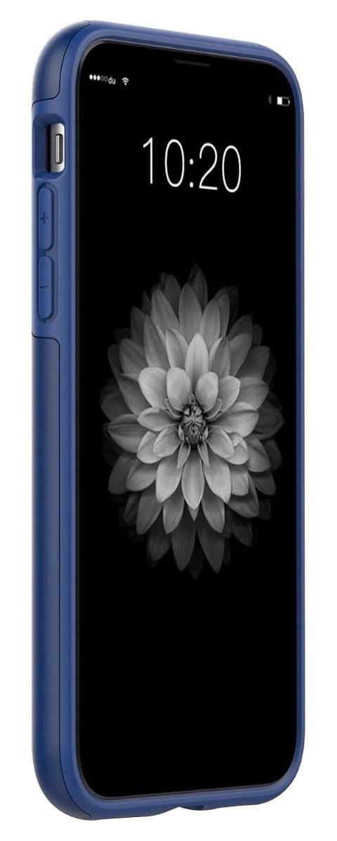 Husa tip capac spate Shieldon Plateau Series albastra pentru Apple iPhone X/XS