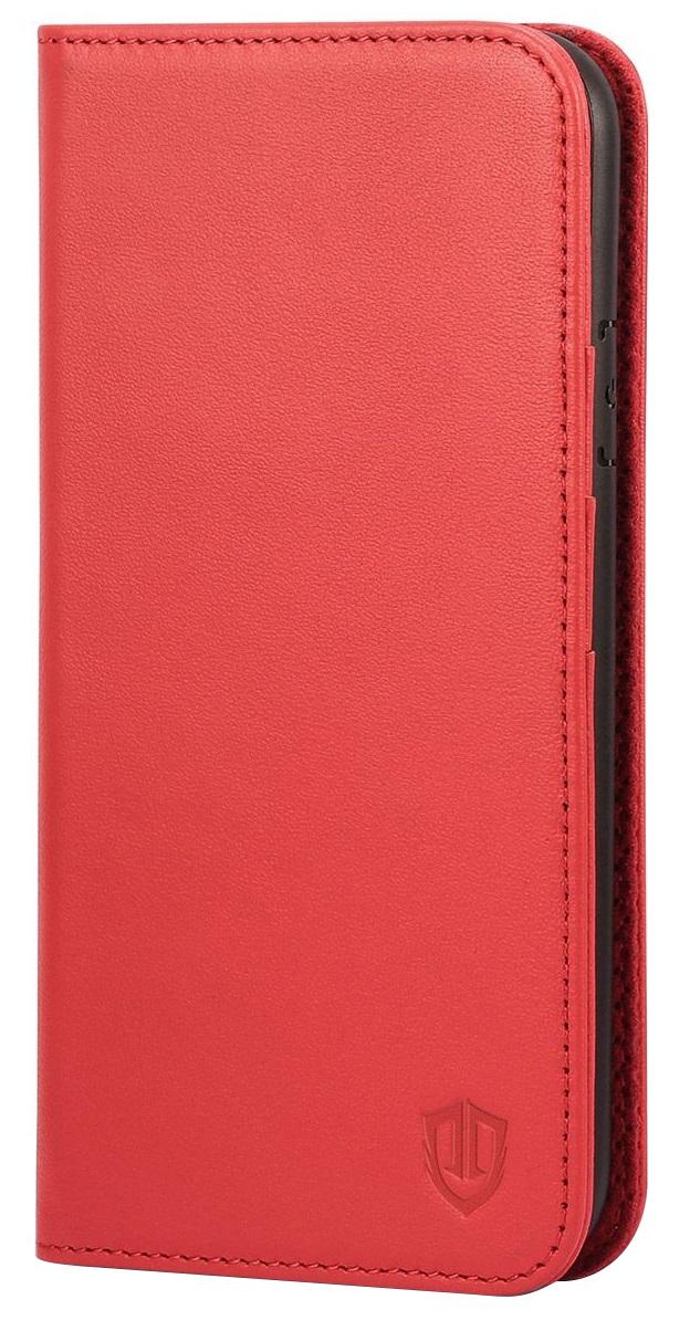 Husa tip carte cu stand Shieldon piele naturala rosie pentru Apple iPhone 7/8