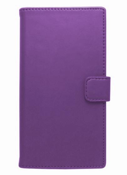 Husa tip carte cu stand universala reglabila (Modern) mov pentru telefoane cu diagonala de 4,7 - 5,1inch