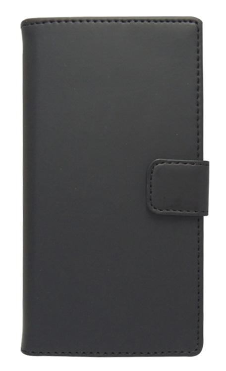 Husa tip carte cu stand universala reglabila (Modern) neagra pentru telefoane cu diagonala de 4 - 4,5inch