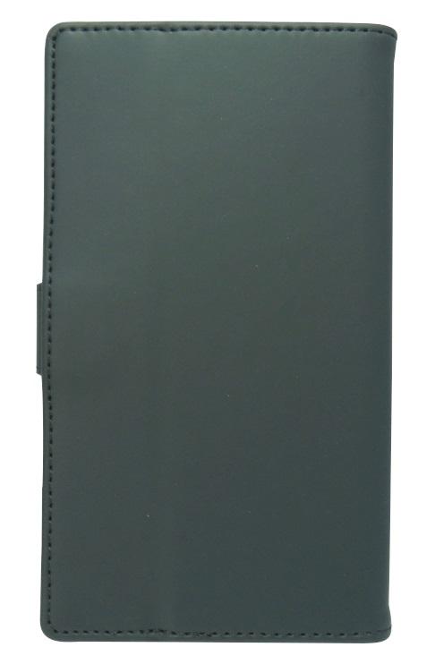 Husa tip carte cu stand universala reglabila (Modern) neagra pentru telefoane cu diagonala de 4,7 - 5,1 inch