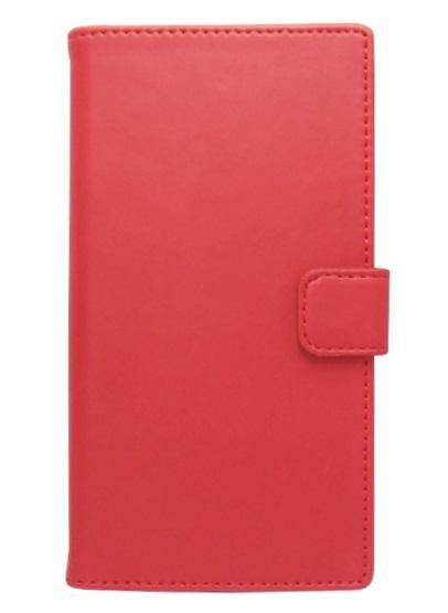 Husa tip carte cu stand universala reglabila (Modern) rosie pentru telefoane cu diagonala de 4,7 - 5,1 inch